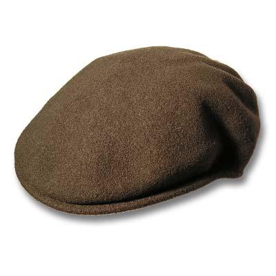 KANGOL, visera de invierno para caballero en color verde, 100%lana y sin forro.