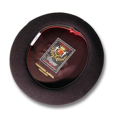 Elósegui, Boina Super Lujo de doce pulgadas, lana 100%. En color negro.
