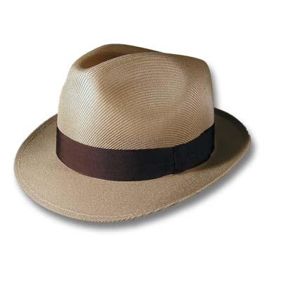 Sombrero vestir hombre beige