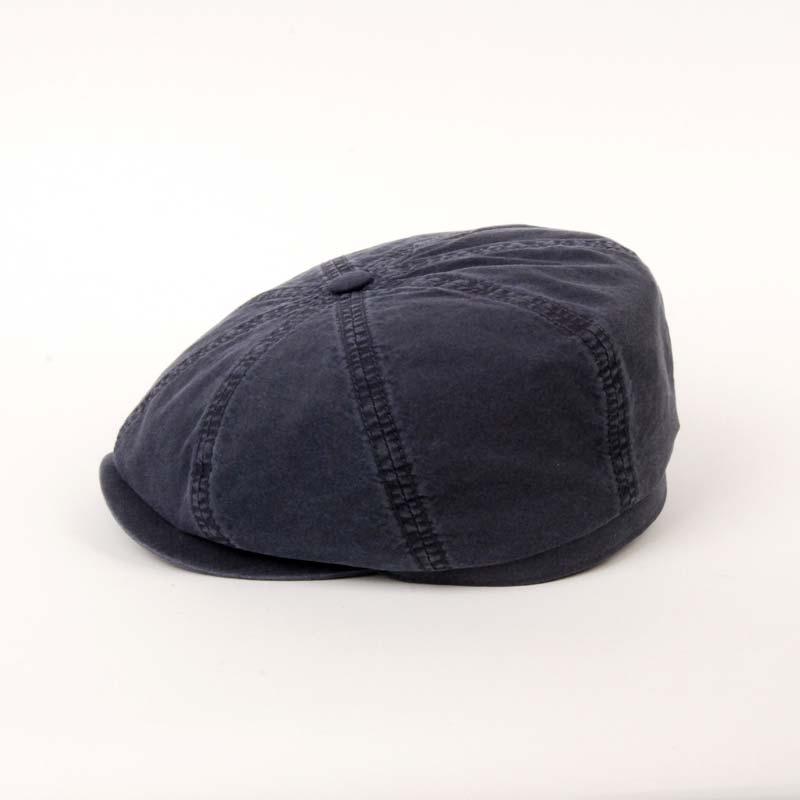 Gorra visera de la marca STETSON, para el verano, algodón, en color azul. Foto.