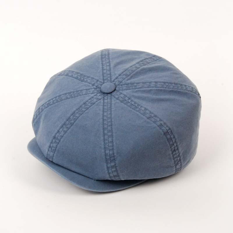 Gorra visera de verano de la marca STETSON, Hattera, algodón, color azul