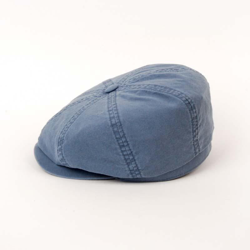 Gorra visera de verano de la marca STETSON, Hattera, algodón, color azul. Foto