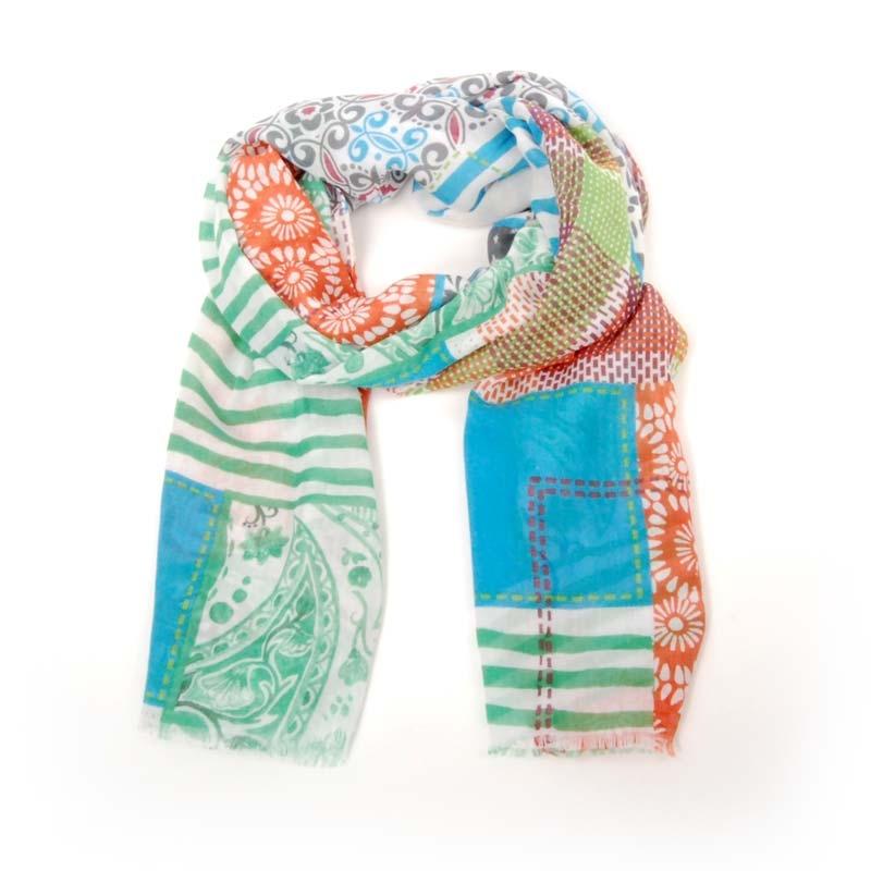 Echarpe foulard de señora para verano, diseño en colores.