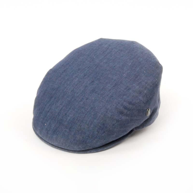 Gorra visera en lino en color azul marino jeans. Forro transpirable. CITY SPORT VERANO