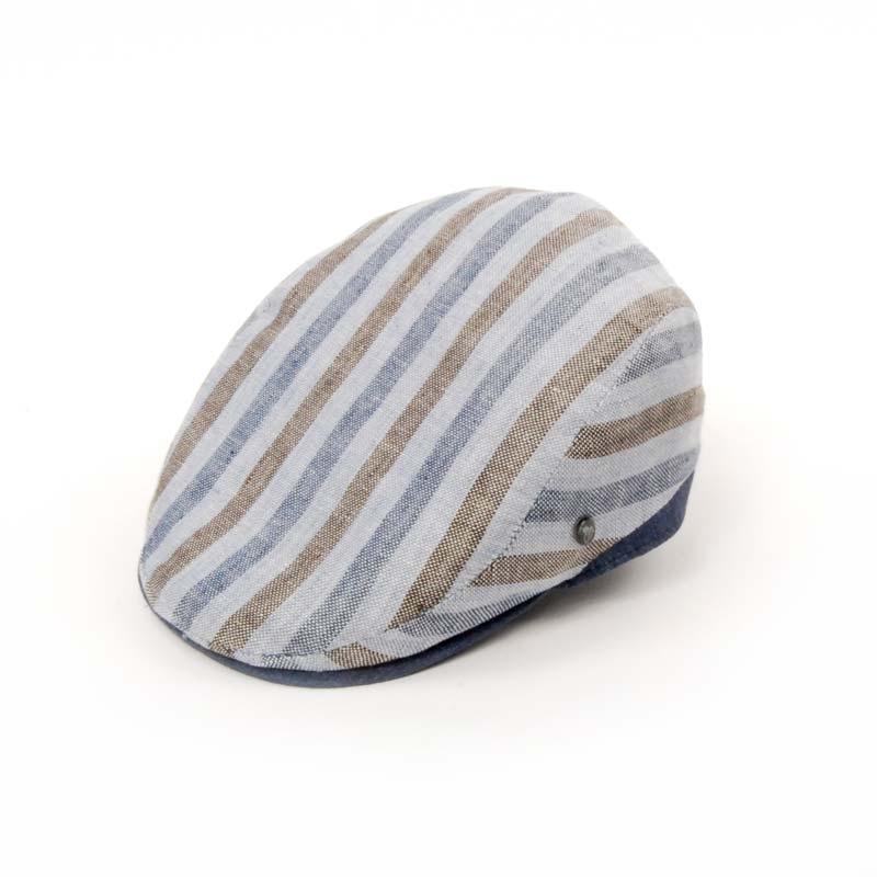 Gorra visera de verano tejido en rayas