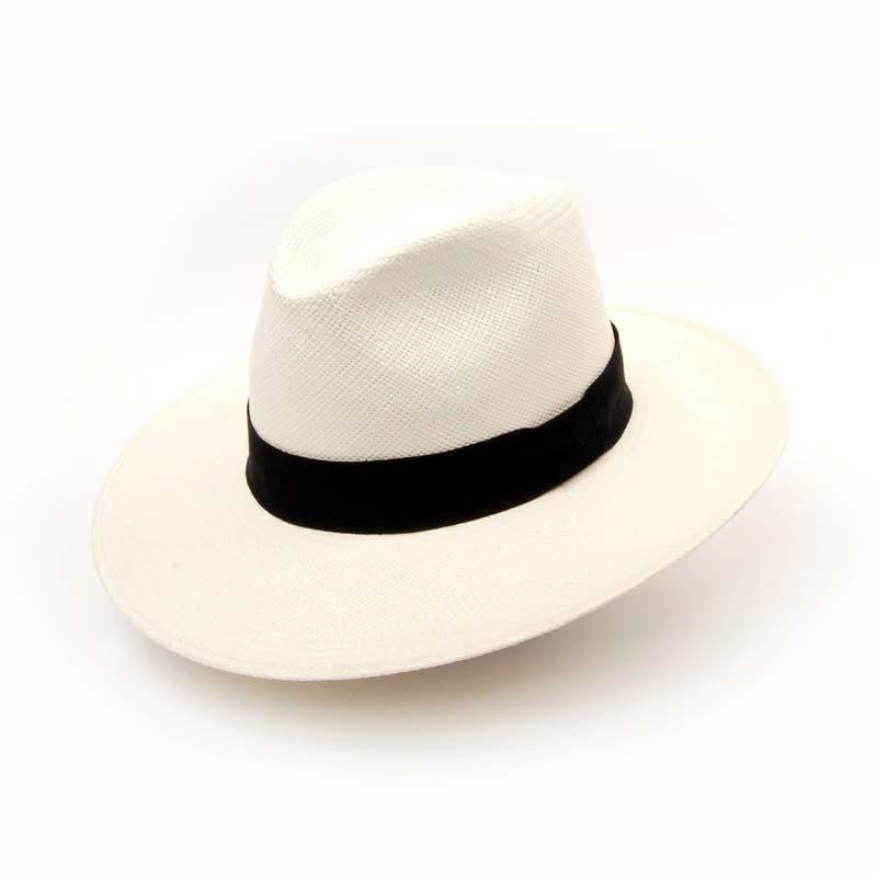 Sombrero PANAMÁ HECHO A MANO, BLANCO, VERANO, PAJA.