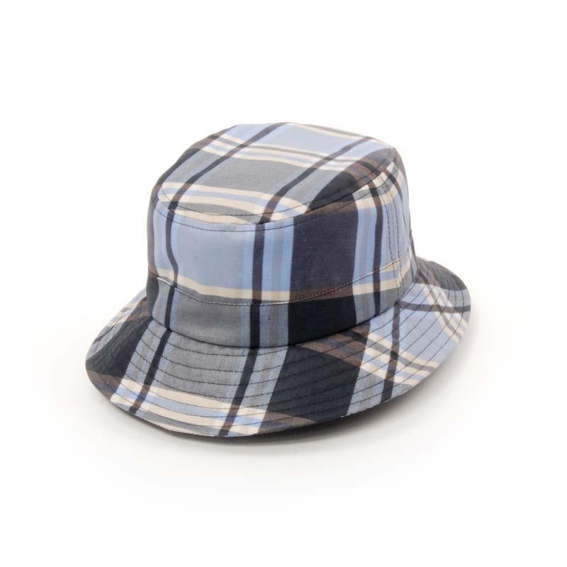 CITY SPORT, sombrero lluvia cuadros azules, gorro gabardina.