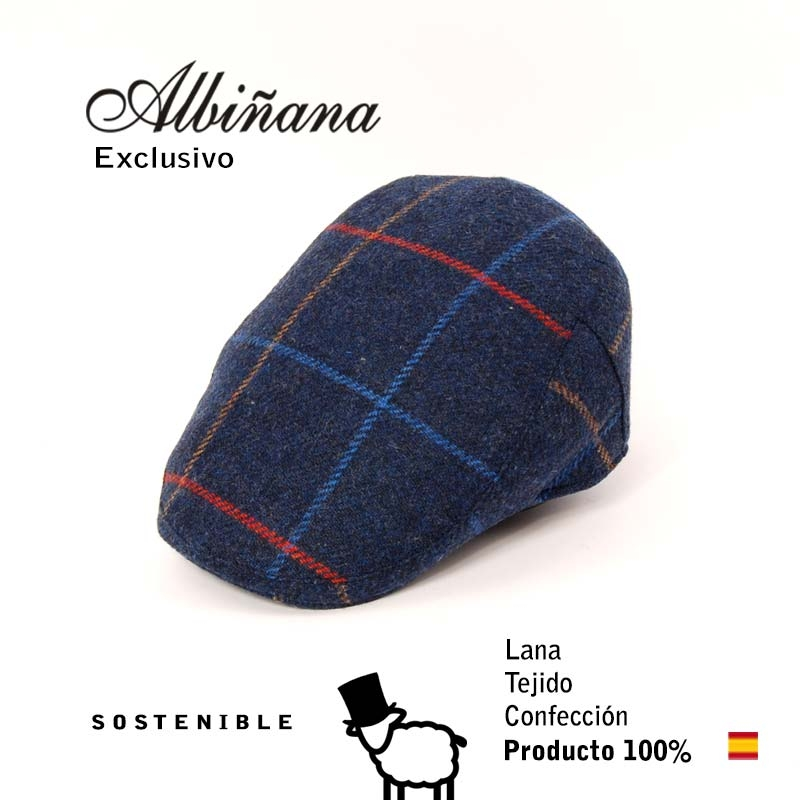 GORRA VISERA, Lana 100%, Exclusiva.