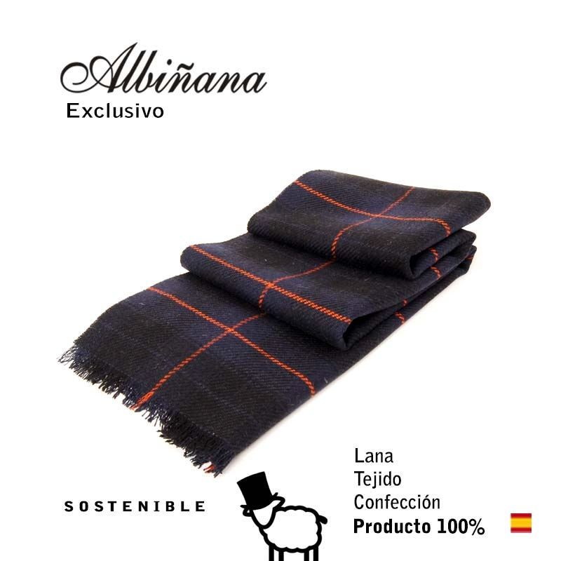 BUFANDA LANA SOSTENIBLE, EXCLUSIVA. MADE IN SPAIN