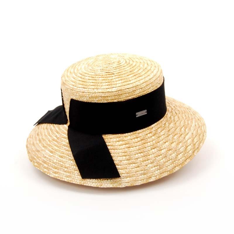 Sombrero señora Canotier ala ancha primavera verano